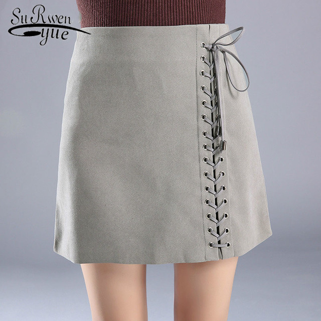 2f54faf424f9 2019 fashion skirts womens A-Line Spring high waist female short skirt  casual Lace-