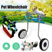 2 Wheel 5 Aluminium Pet Dog Cat Wheelchair XS Model Walk Cart Scooter For Handicapped Hind Leg can Adjusted Pet Weight 3 15kg