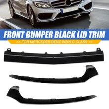 Высококачественная крышка переднего бампера автомобиля, нижний разделитель крышки молдинги для Mercedes BENZ W205 C300 C400 C63 Для AMG 2058851574