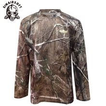 f70679006f Atacado Verão e Outono calças de Camuflagem dos homens Camisa Longa Da Luva T  Camisa Dos Homens Militar Tático Caça Camo O-pesco.