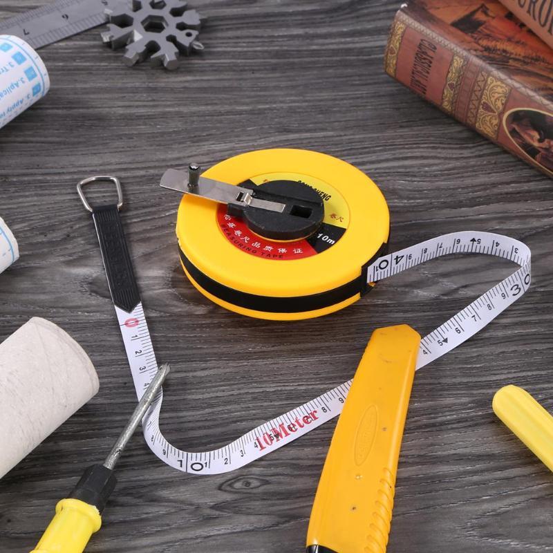 10/15/20/30/50m Hand Disc Flexible Ruler Measuring tool Fiber Measuring Tape Hand Tools for Engineering Measuring10/15/20/30/50m Hand Disc Flexible Ruler Measuring tool Fiber Measuring Tape Hand Tools for Engineering Measuring