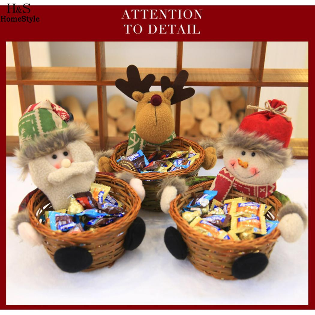 Us 3 51 5 Off Super Christmas Storage Candies Boxes Lovely Home Christmas Decorations Party Candy Basket Gift Design Christmas Themed In Storage