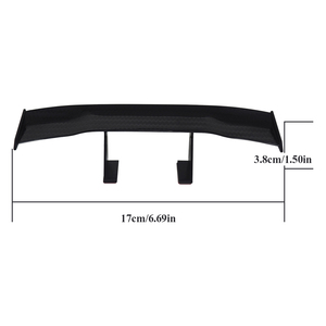 Image 5 - Carbon Car Tail Wing Universal Trunk Spoiler Auto Car Sticker for VW Volkswagen Passat B6 Ford Focus 2 Peugeot 206 BMW Audi AMG