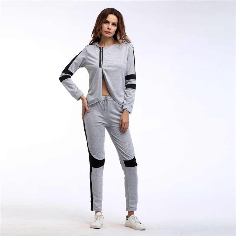 67103d462db ... Спортивные костюмы для Для женщин костюм спортивный комплект толстовка  с капюшоном Демисезонный спортивная Женский костюм тренировки ...