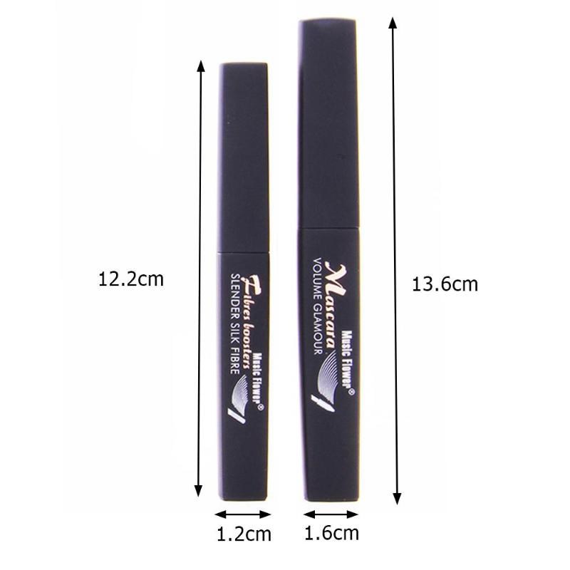 Купить с кэшбэком New 4D Silk Fiber Lash Mascara Waterproof Rimel 3D Mascara For Eyelash Extension Black Thick Lengthening Eye Lashes Cosmetics