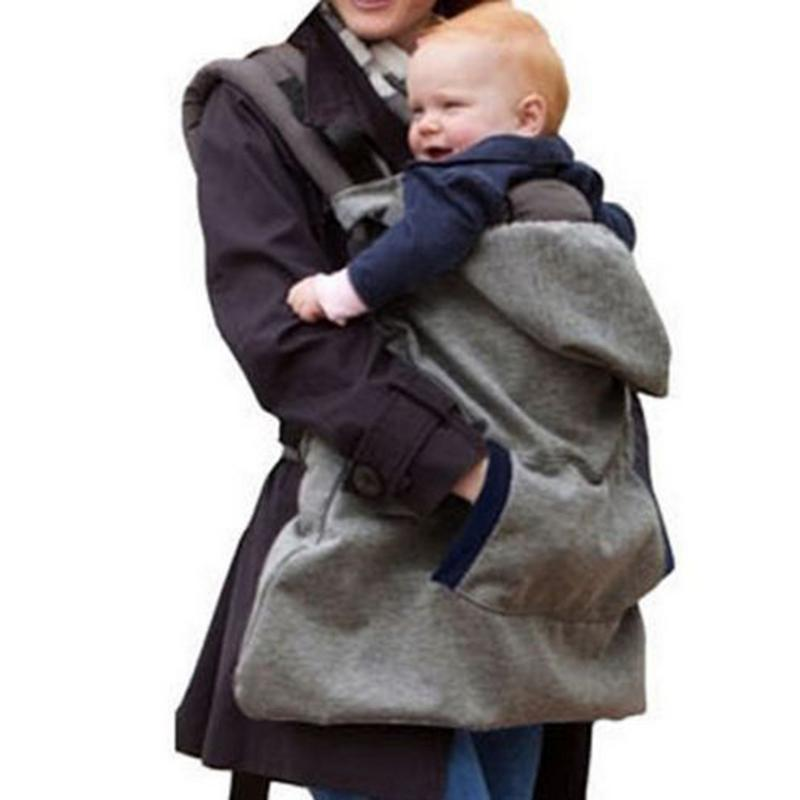 Delicious 2018 Brand New Warm Wrap Sling Baby Carrier Windproof Baby Backpack Blanket Carrier Cloak Grey Funtional Winter Cover Hot Superior Materials Activity & Gear Backpacks & Carriers