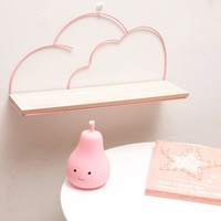2 Colors Iron Shelf Single Layer Clouds For Kitchen Storage Rack Dropshipping Bathroom Baby Room Decorative Wall Shelf 40*20cm