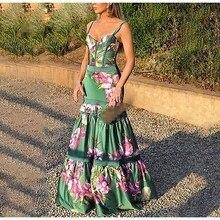 Plus Size 2019 Women Summer Vinatge Floral Print Long Dress Elegant Party Night Maxi Dresses Casual Print Ruffles Bodycon Dress цена 2017