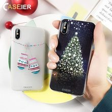 CASEIER 2019 Christmas Phone Case For iPhone 8 7 Plus 6 6s Silicone Soft Funda X XS MAX XR Cover Shell capa