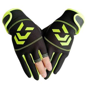 Image 3 - Outdoor Non   Slip Fishing Protection Against Stab Wounds Mens Three   Finger Fishing Gloves High   Quality Outdoor Breathable