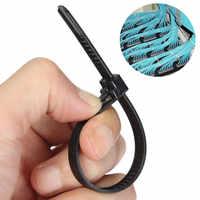 100Pcs Schwarz Nylon Kunststoff Lösbare Mehrweg Kabelbinder Zip Wraps Ratsche Krawatten Draht 150x8mm/200x 8mm/300x8mm für Bindung Kabel