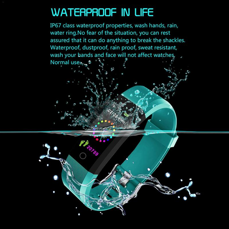 Smartwatch Steps 115plus Sport Blood-Heart-Rate For Color-Screen Sleep-Monitoring Count