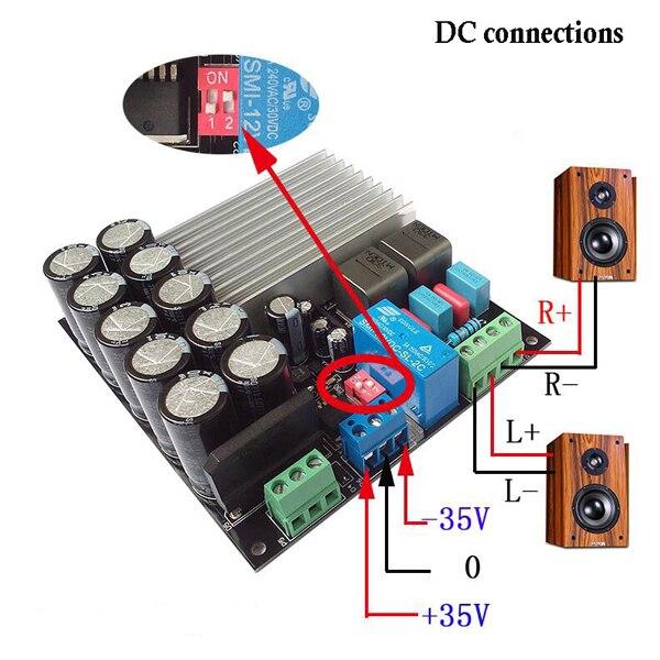 Carte amplificateur de puissance numérique CLAITE TDA8954 210 W + 210 W fièvre 2 classe D double canal après classe Super TDA8950|Opérationnel Amplificateur Puces| |  -