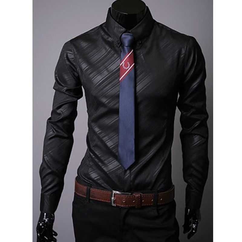 Casual Shirt Men Luxury Stylish Casual Dress Slim Fit Casual Blouse