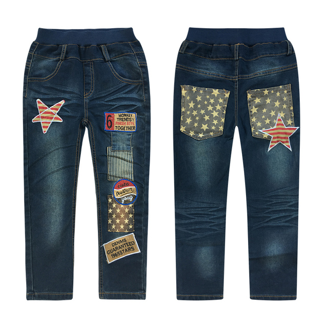 3-14Y Fashion Boys Jeans Trousers Cowboys Autumn Kids Clothes Casual Baby Pants Toddler Casual Boy Denim Pants Children Clothing