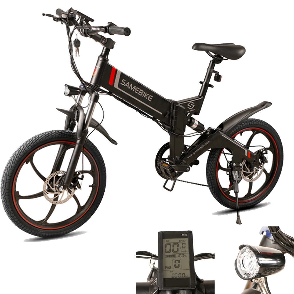 Samebike 20ZANCHE Mini Electric Bike Moped Bicycle 48V Electric Bike 350W Motor 10Ah Smart Folding Electric Bicycle Free ShipSamebike 20ZANCHE Mini Electric Bike Moped Bicycle 48V Electric Bike 350W Motor 10Ah Smart Folding Electric Bicycle Free Ship