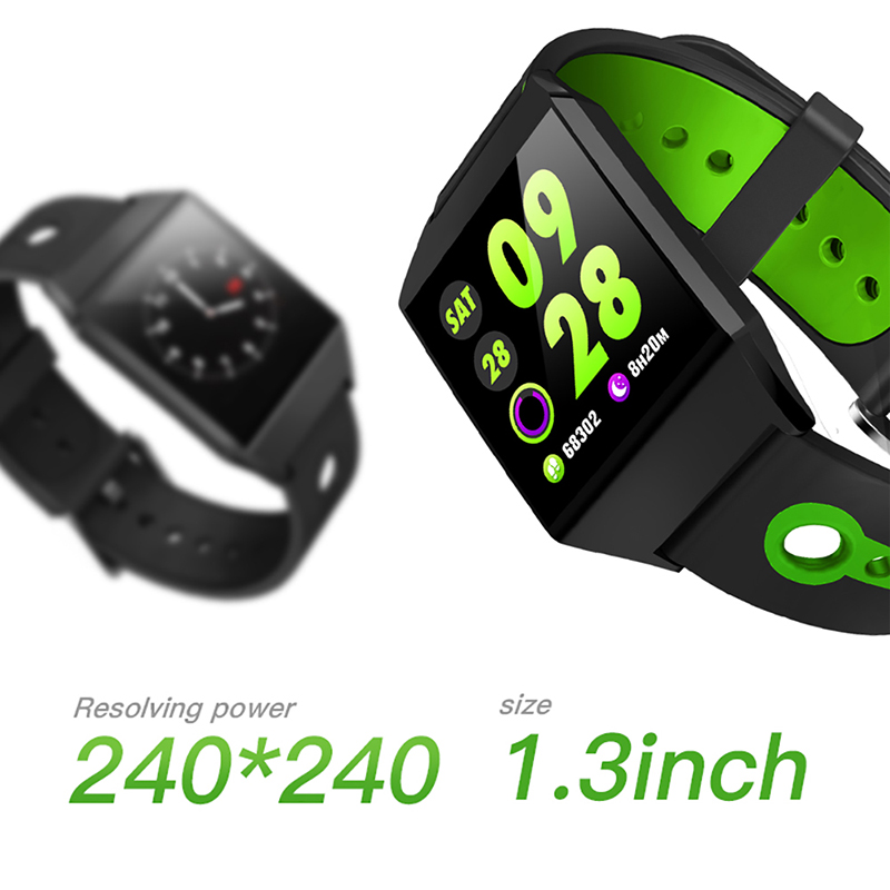 Watch Pedometer Bracelet Color-Screen Sports-Blood-Heart-Rate Bluetooth Android Monitor