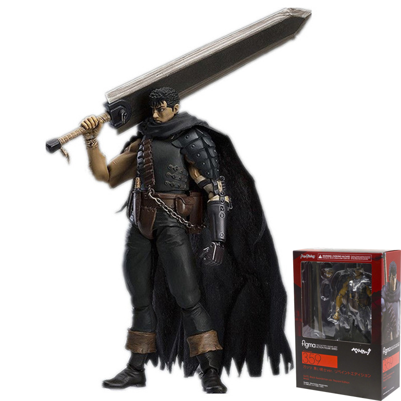 17cm Game Berserk Beruseruku Figma 359 Black Swordman PVC Action Figures toys Anime figure