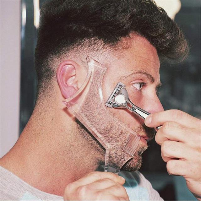 Plantilla de diseño de barba para hombre multifunción de belleza 1