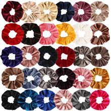 4PCS  Velvet Scrunchie 30 Colors Women Girls Hair Elastic Hair Scrunchies Elastics Hair Rubber Bands Ponytail Holder Hair Ties рубашка жакет la redoute carola m розовый
