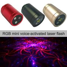 RGB Mini Stage Light Voice Activated USB Disco Lights Rechargeable Portable Laser Light Home Bar KTV Party Infrared Flash Light
