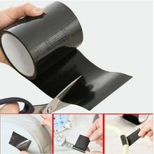 Прочная водонепроницаемая лента 150x10 см, черная суперпрочная Водонепроницаемая нашивка-лента, связывающая уплотнение для ремонта, клейкая лента для остановки утечки, Новинка