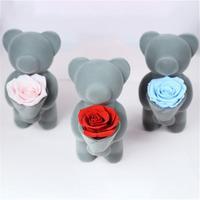 Everlasting Rose Bear Hug Flower Doll For Valentine's Day Ornament Full Of Romance And Beauty For Rose Bear Hug Flower