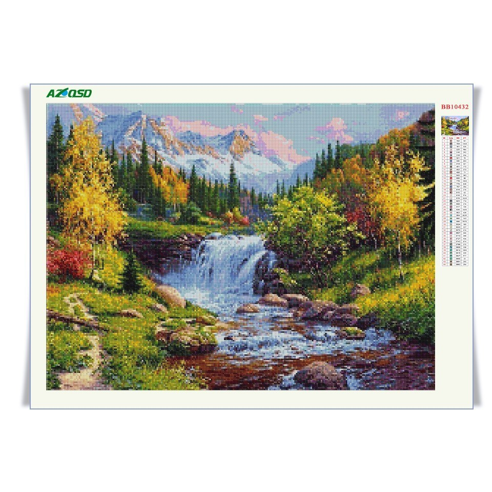 AZQSD Diamond Embroidery Landscape Handmade Gift Diamond Painting Cross Stitch Full Square Scenic Wall Decor 5D DIY BB10425 in Diamond Painting Cross Stitch from Home Garden