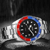 Mens Watches Top Brand Luxury Men Stainless Steel Band Calendar Business Waterproof Sports Quartz Wrist Watch reloj relogio 2019