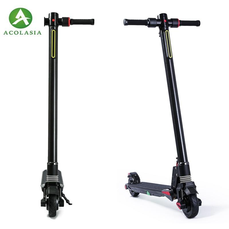 Double moteurs 2018 nouvelle Fiber de carbone pliant Scooter électrique planche à roulettes vélo Kick Scooter puissant vélo électrique 201-500 w
