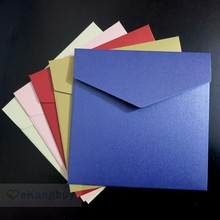 25pcs 158x158mm(6.1x6.1inch) 250g Pearl Color Envelope Wedding Invitation Envelope