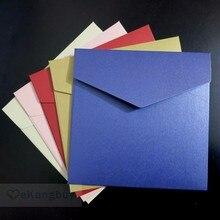Enveloppe dinvitation de mariage, 158x158mm, 6.1x6.1 pouces, 250g, 25 pièces