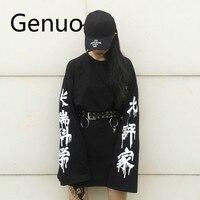 d7569dcf1 Harajuku Punk Gothic T Shirt Women Streetwear Casual Korean Clothes Femal  Tshirt Couple Long Sleeve T