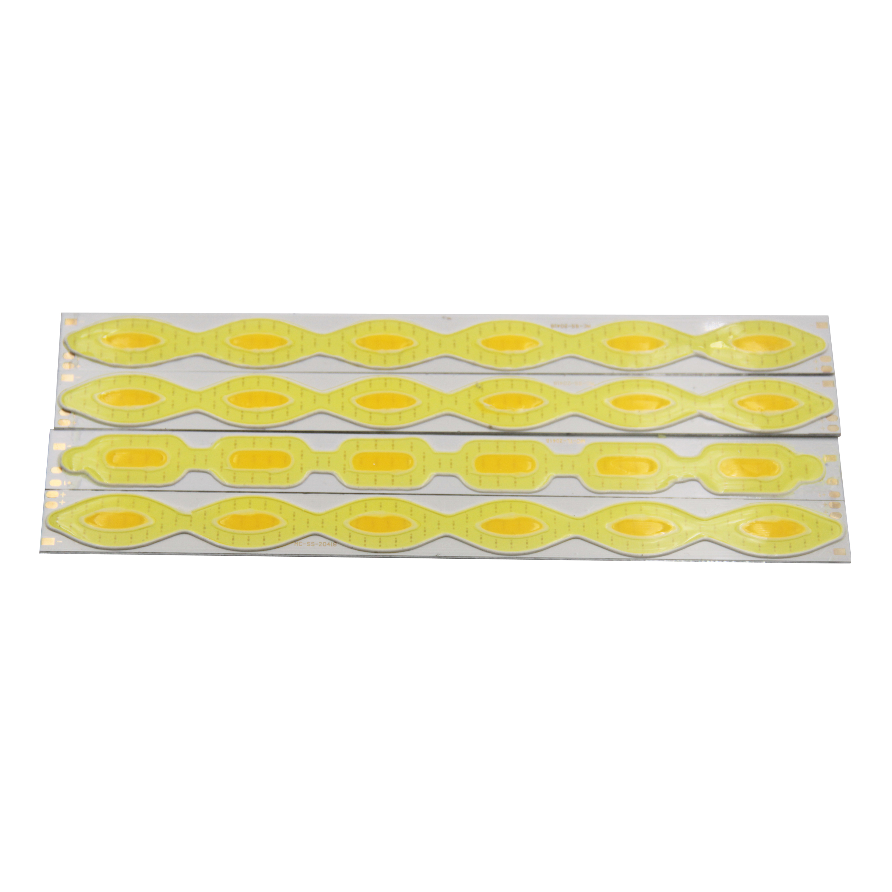 Купить с кэшбэком 204mm 18mm 12v led cob chip strip bar light lamp source double color yellow cold white led cob bulb for diy auto running light