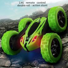 YD JIA RC سيارة 2.4G 4CH حيلة عربات التي تجرها الدواب سيارة روك الزاحف لفة سيارة 360 درجة الوجه الاطفال روبوت RC سيارات لعبة للهدايا