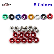 RASTP-JDM Style Fender Washers (10 Pieces) Aluminum And Bolt for Honda Civic Integra RSX EK EG DC RS-QRF002-TP