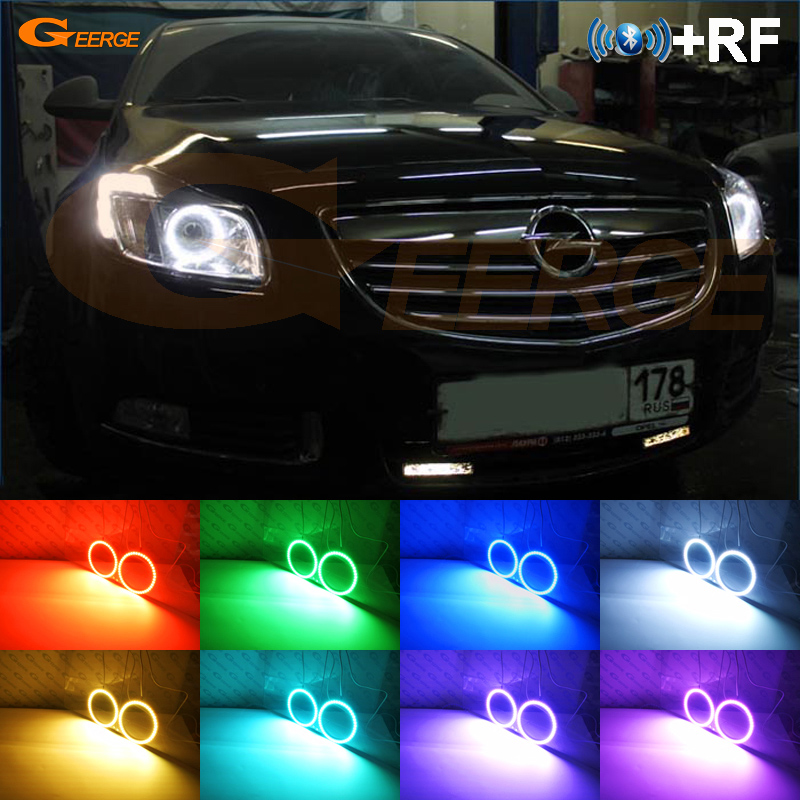 For Opel Insignia 2008 2009 2010 2011 2012 2013 RF Bluetooth Controller Multi Color Ultra bright RGB LED Angel Eyes kit