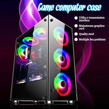 Gamer Cooling Desktop Computer Mainframe Case 350x290x410mm For ATX/ m-atx/mini-itx Motherboard Support 8 Fans