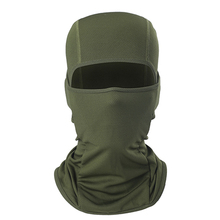 1pc Army Green Motorcycle Mask Full Face And Neck Thin Soft Breathable For Bicycle Cycling Outdoor Sports Balaclava Hood