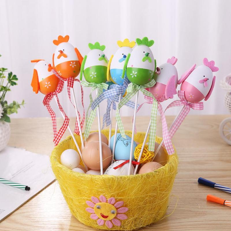 Craft Toys Methodical 2pcs Plastic Easter Eggs Painting Handmade Diy Easter Decoration Kids Gift Party Supplies Child Toys Cute Rabbit Chick Egg Toys