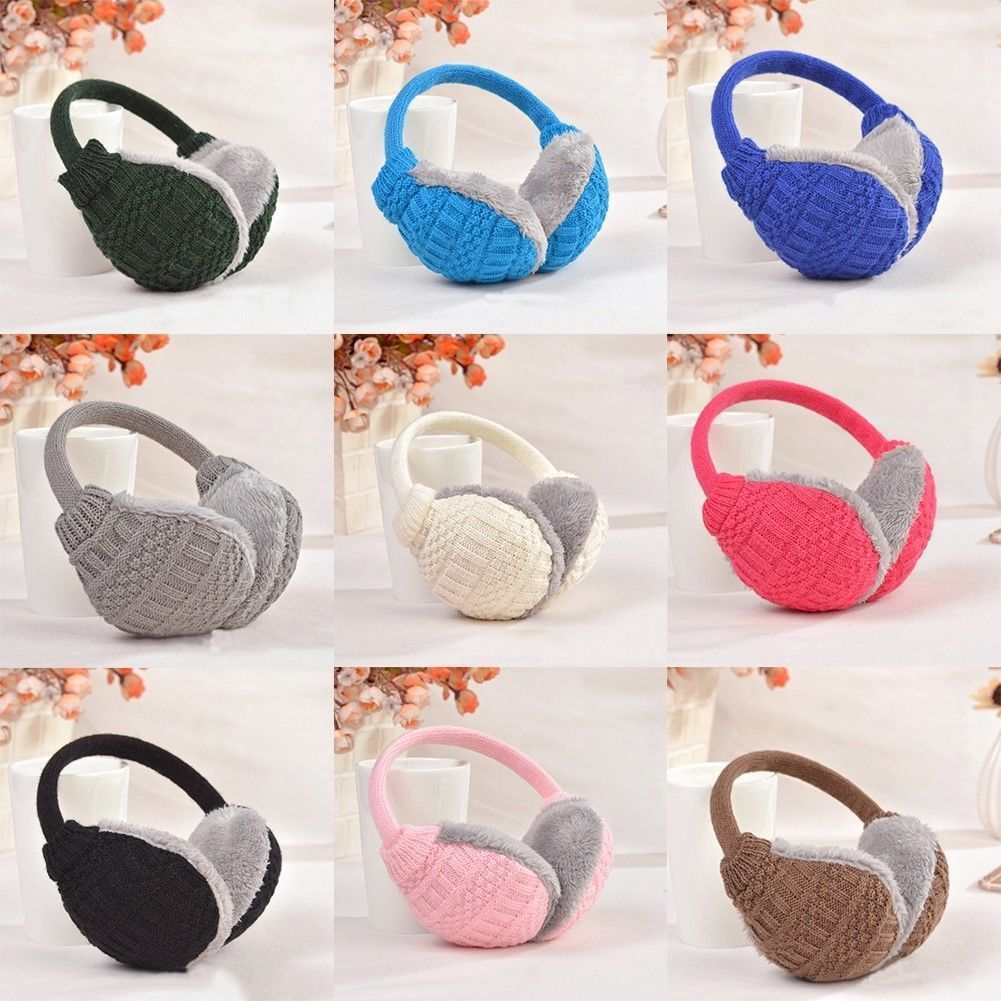 Winter Warm Knitted Earmuffs Ear Warmers Fashion Women Girls Ear Muffs Earlap Color Diversity