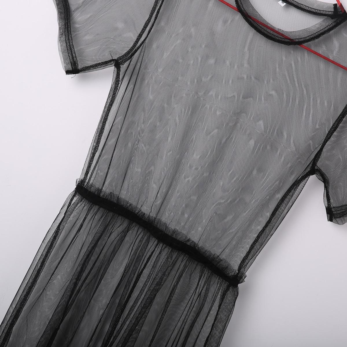 415ca4998a91e 2019 Women Sexy Solid Black Fishnet Bathing Swimming Bikini Cover Up Shell  Scarf Mesh Scarves Swimwear Swimsuit Dress Beachwear