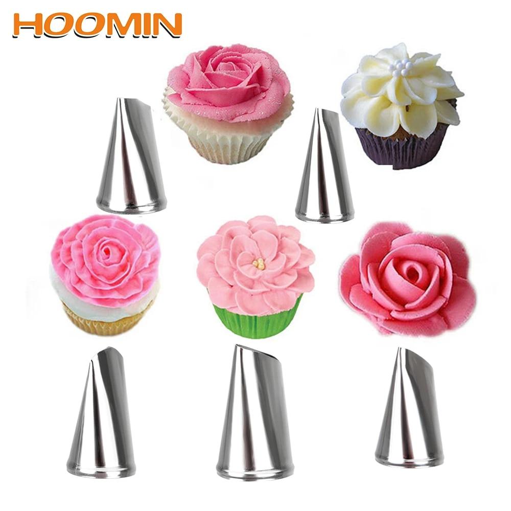 3 PCS Rose Petal Nozzles Icing Piping Baking Mold Ice Cream Tool Cake Decorating