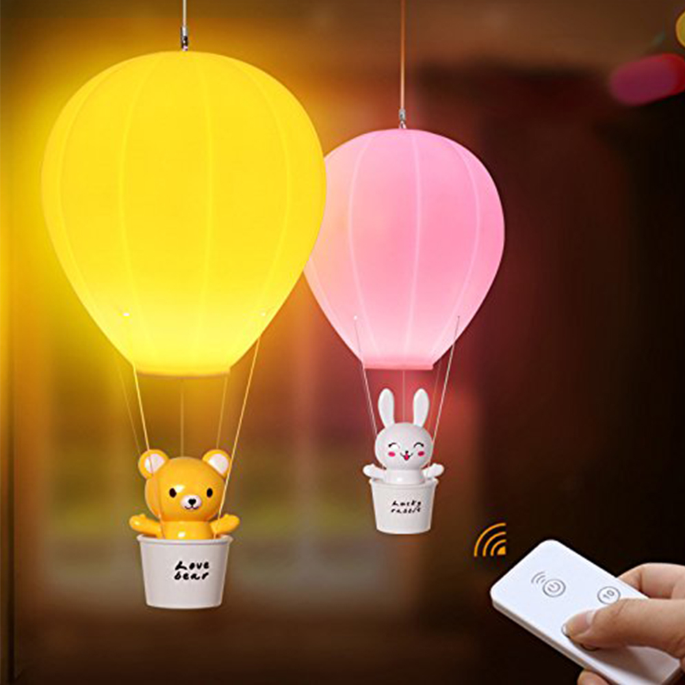 Dimmable Hot Air Balloon Led Night Light Cartoon Children Baby Nursery Gift Desk Lamp With Touch Switch Remote Control Wall