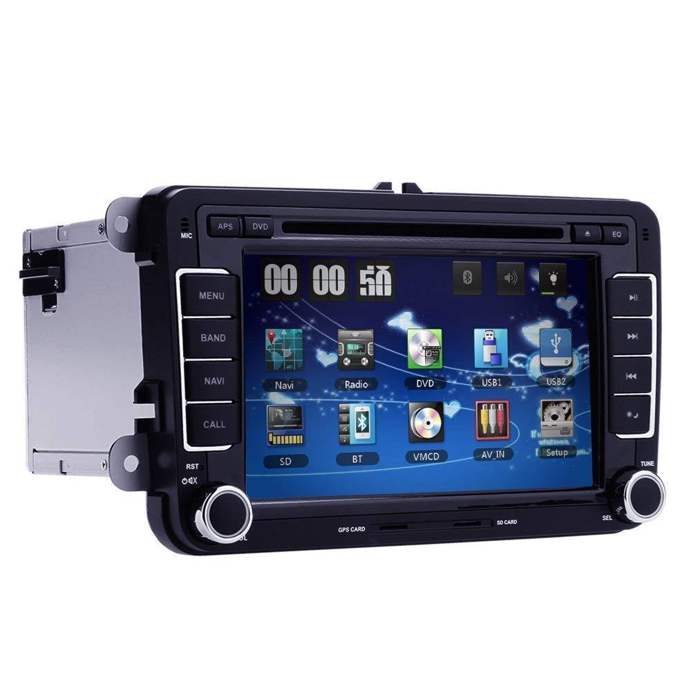 CARCHET 7 Inch Car DVD GPS RADIO Player Free Map Navigation Mp3 for VW Volkswagen CC Jetta Passat Tiguan Polo Golf Skoda