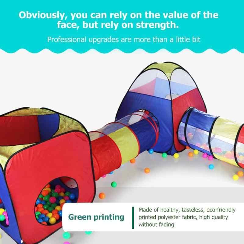 Permainan Bayi Rumah Tenda untuk Anak FoldableToy Anak Plastik Rumah Bermain Game Tenda Tiup Yard Bola Kolam Renang Kronologis Yang Merangkak terowongan