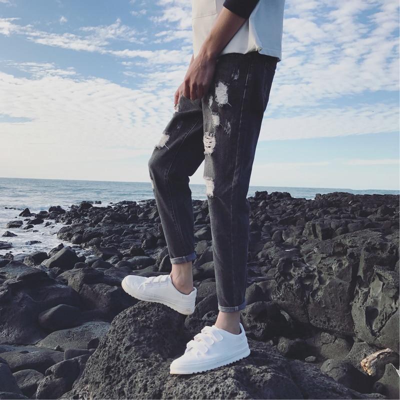 Hip Couple Black Printemps Simple D'été 2019 De Hop Hommes Tendance Coréenne Streetwear La Nouvelle Slim Jeans Version Meilleur Stretch Et Skinny blue AfanvpfC