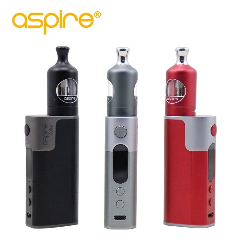 Aspire Zelos 50 watt Kit Elektronische Zigarette Kit Nautilus 2 Vape Tank 2 ml Verdampfer E Zigaretten 2500 mah Batterie vape Mod e cig Kit