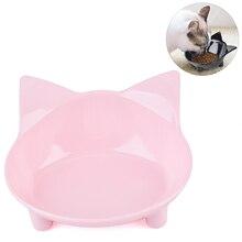 New Cat Shaped font b Pet b font Cat Single Bowl Cat Food Bowl Anti Slip
