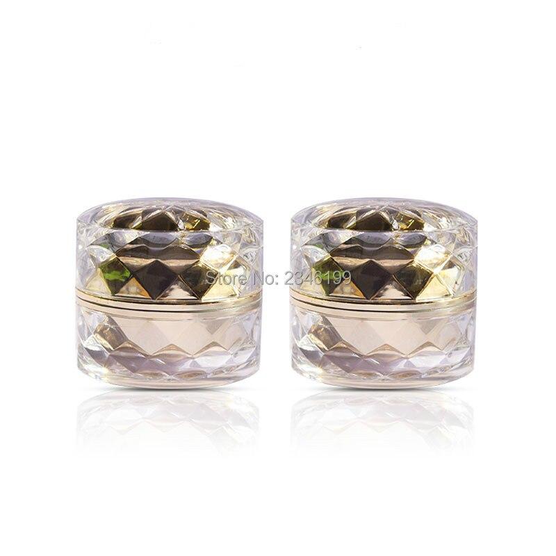 Empty Acrylic Cream Jar 5g Gold Crystal Cut Surface Eye Cream Jar Acrylic Cosmetic Container Empty